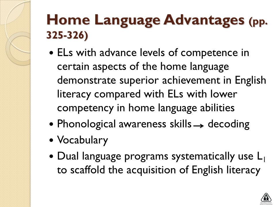 Home Language Advantages (pp )