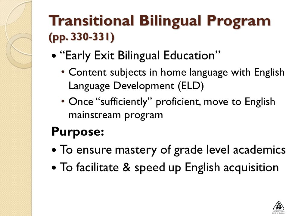 Transitional Bilingual Program (pp )