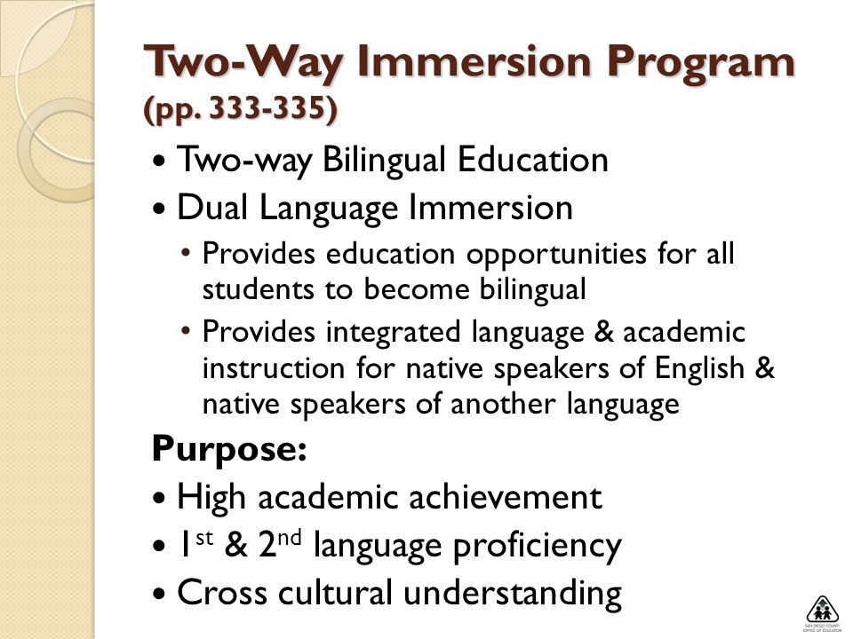 Two-Way Immersion Program (pp )
