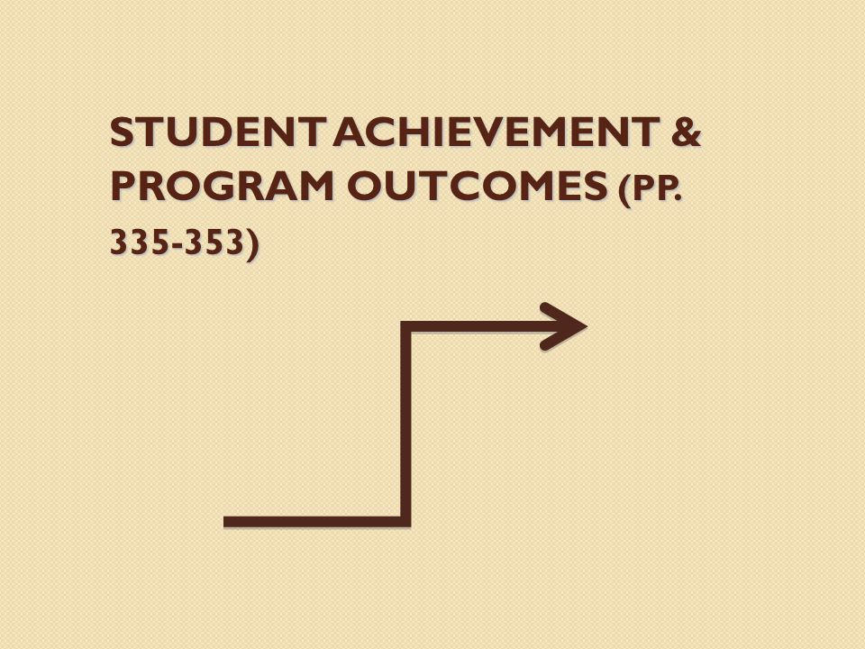 STUDENT ACHIEVEMENT & PROGRAM OUTCOMES (PP )