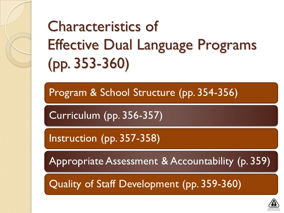 Characteristics of Effective Dual Language Programs (pp )