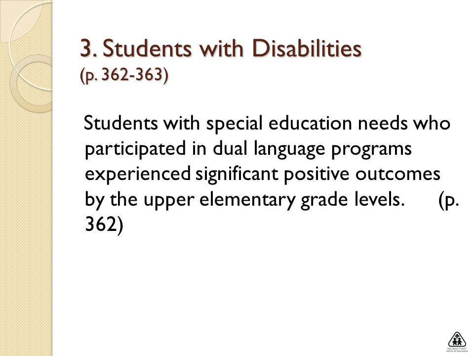 3. Students with Disabilities (p )