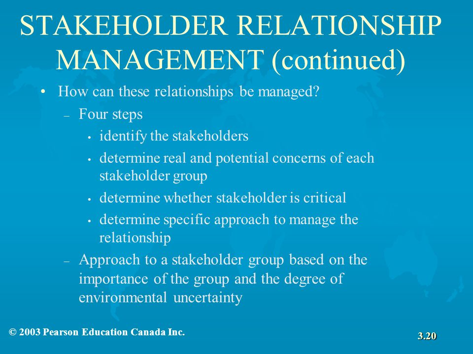 Stakeholder Relationships: Key to a Sustainable Enterprise