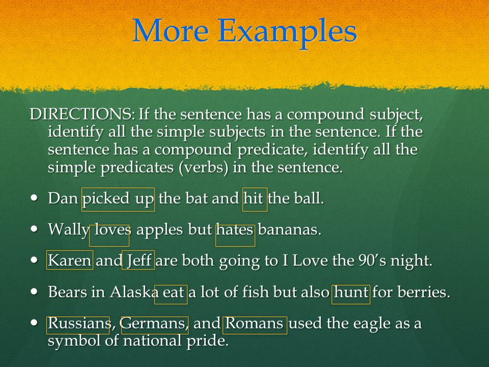 how to find the subject of a sentence