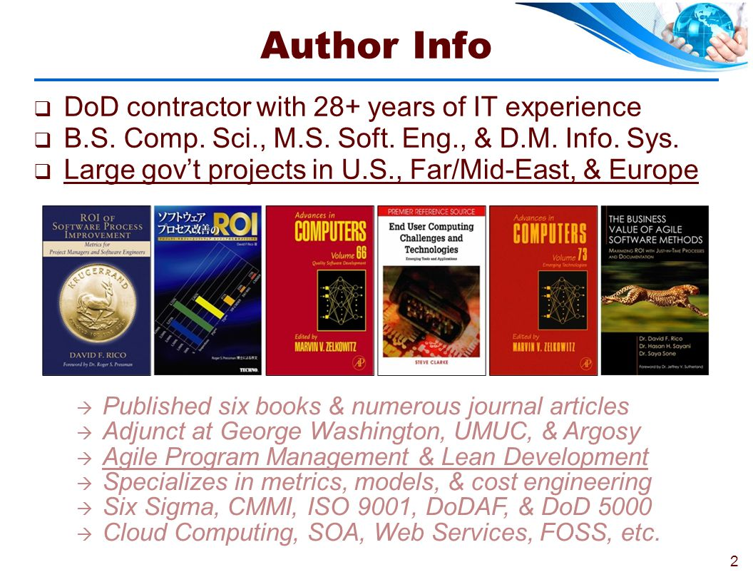 Author Info DoD contractor with 28+ years of IT experience