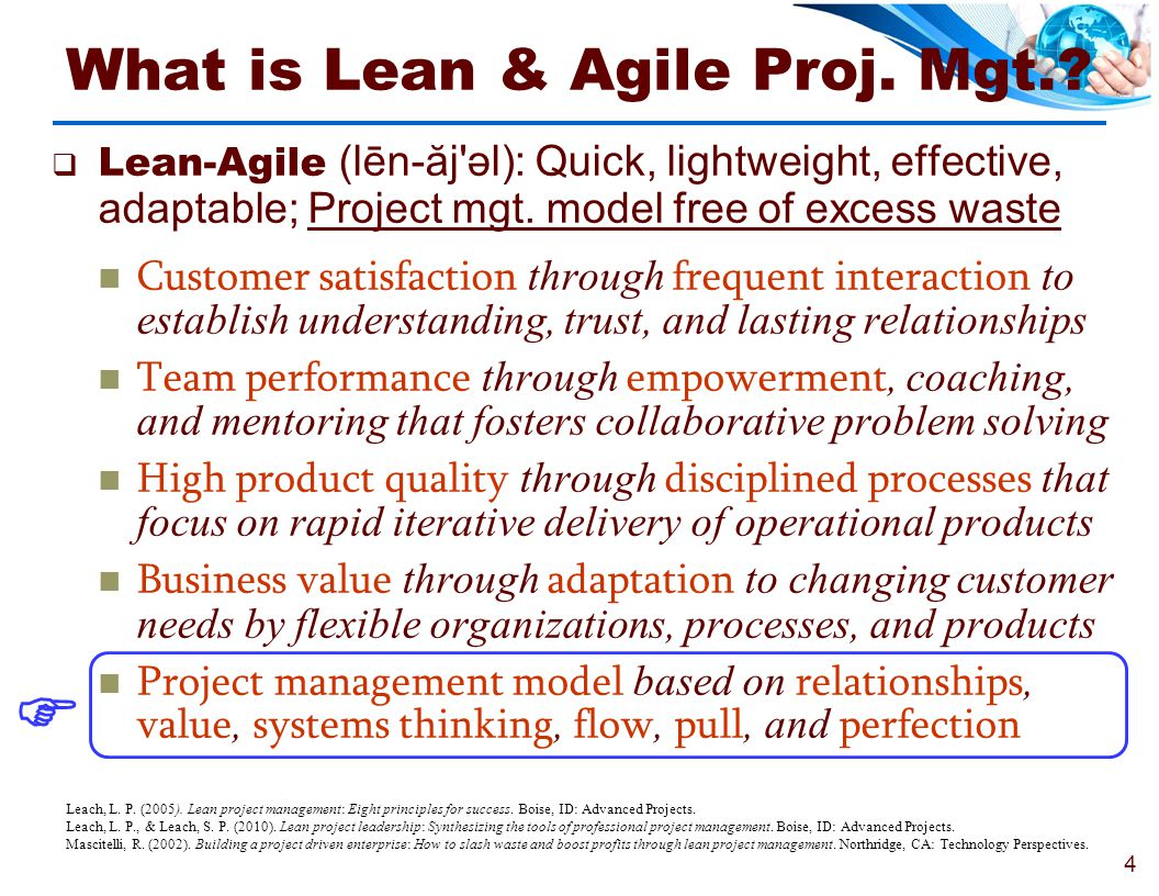 What is Lean & Agile Proj. Mgt.