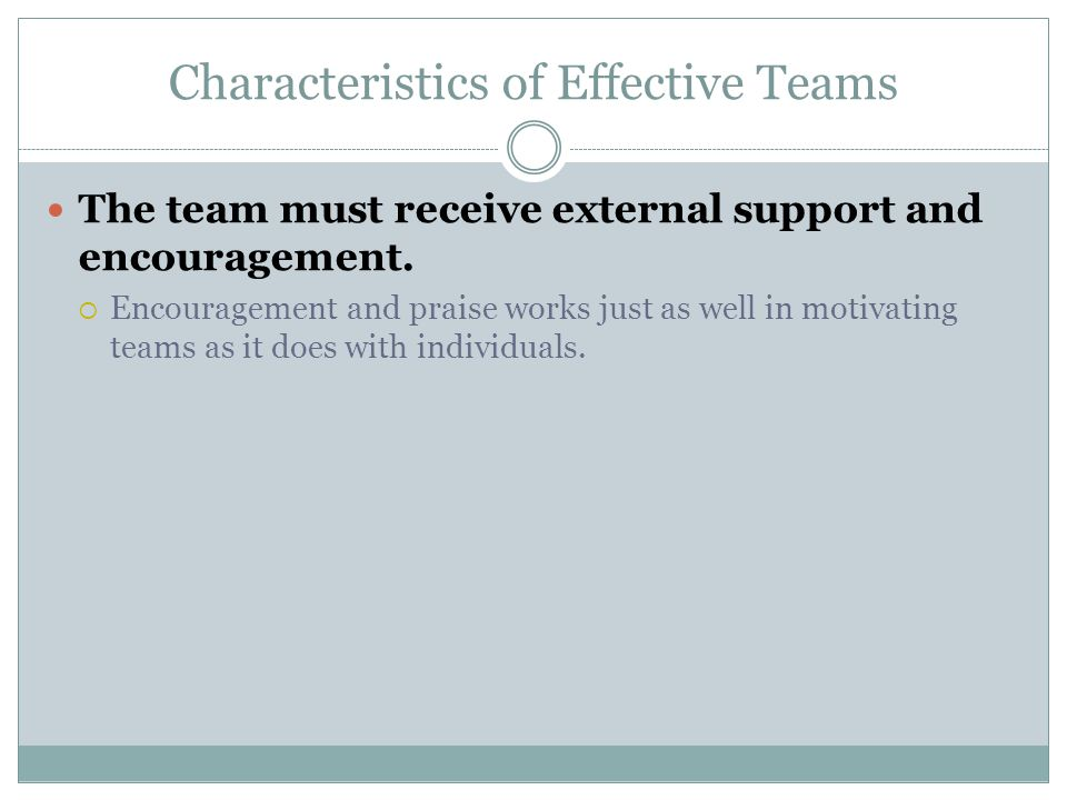 characteristics of an effective team pdf