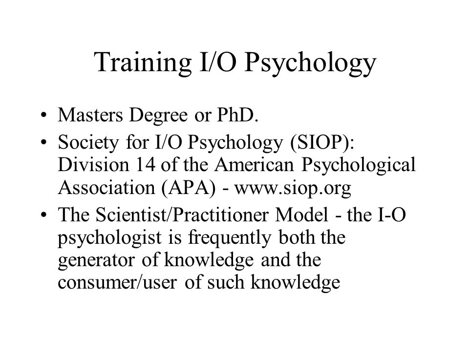 io psychology essay View industrial and organizational psychology research papers on academiaedu for free.