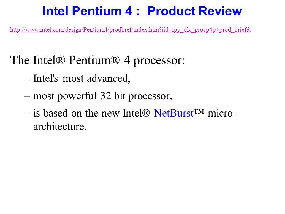 Intel pentium 4 microprocessor ppt download for Pentium 4 architecture