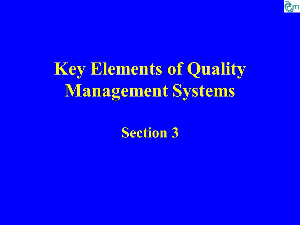 quality system basics section 1 ppt