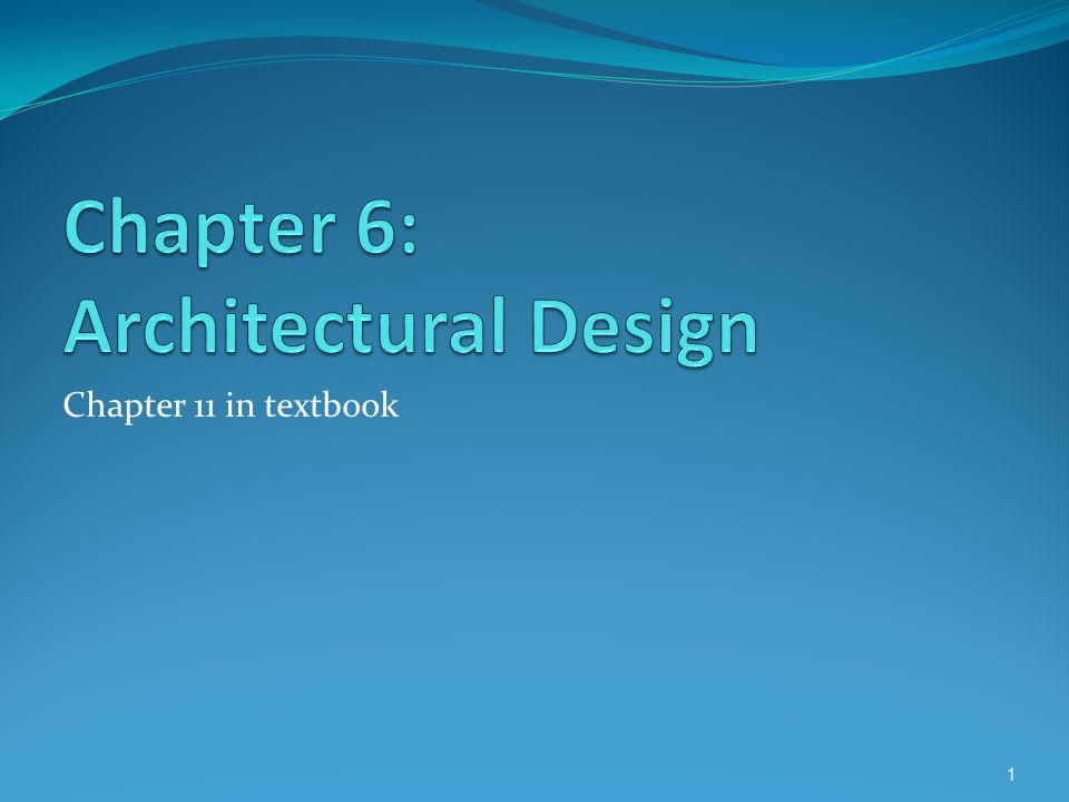 Lovely Chapter 6: Architectural Design