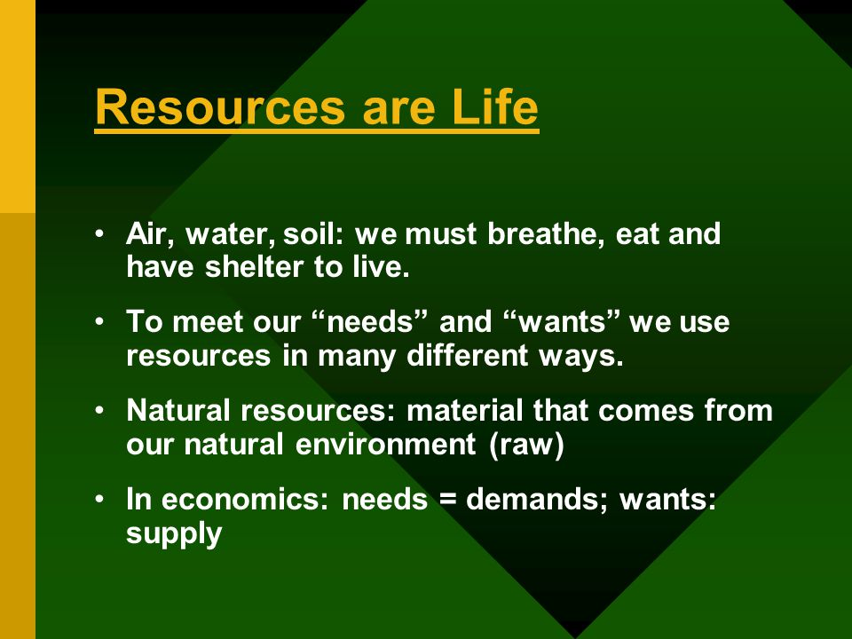 Types of natural resources ppt video online download for Natural resources soil uses