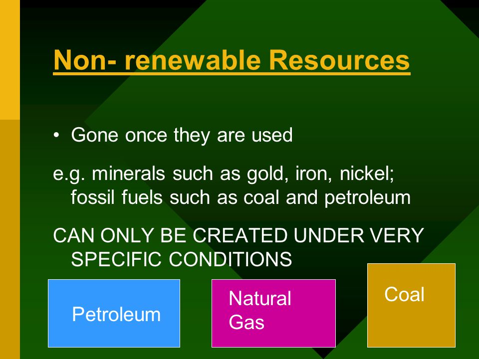 Energy Resources Coal Petroleum And Natural Gas