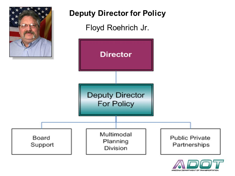 Deputy Director for Policy Floyd Roehrich Jr.