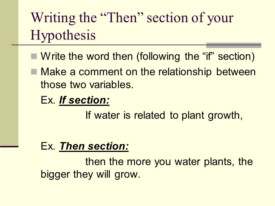 Teaching the Hypothesis