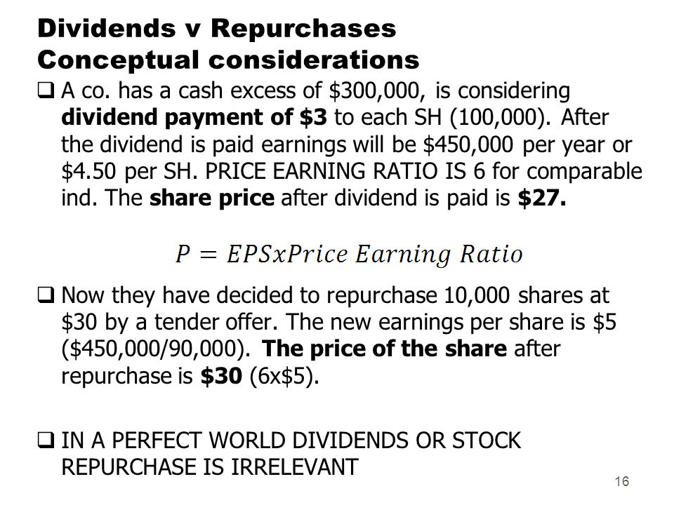 dividend policy and stock repurchases The evolving relation between earnings, dividends, and stock repurchases douglas j skinner graduate school of business university of chicago.