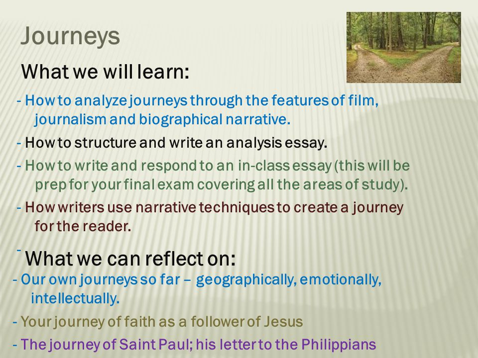 Area of Study – Journeys - Weebly