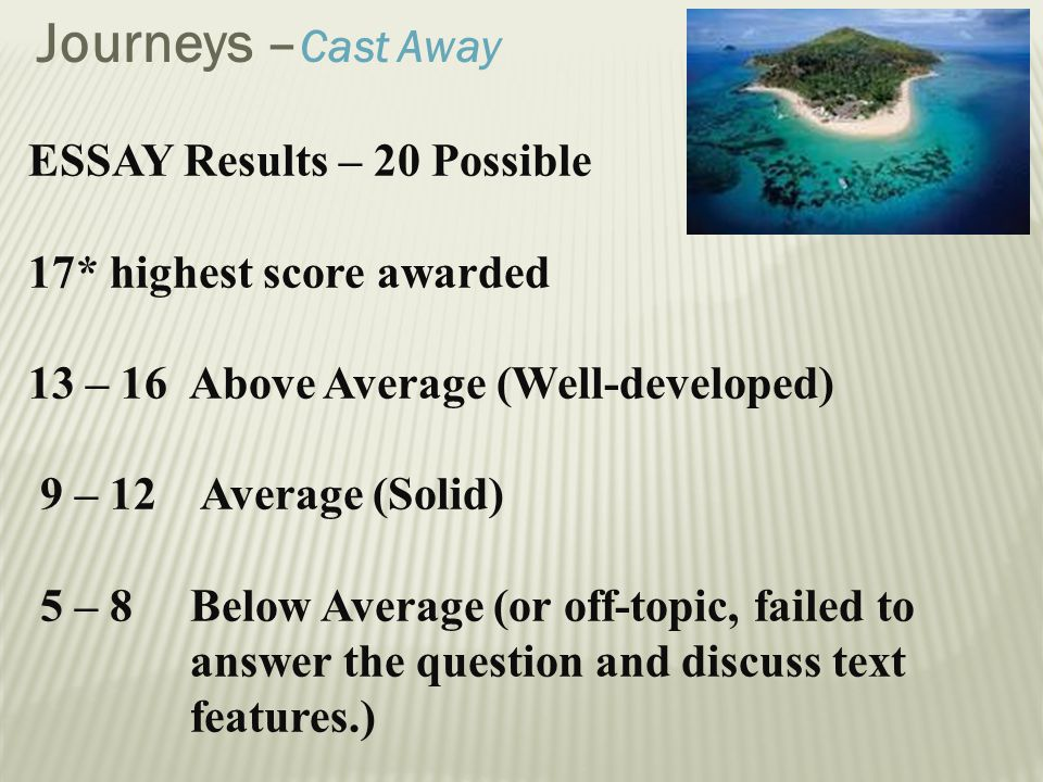 castaway essay Lord of the flies vs cast away although the book lord of the flies and the movie cast away have a number of similarities, they also have some notable.