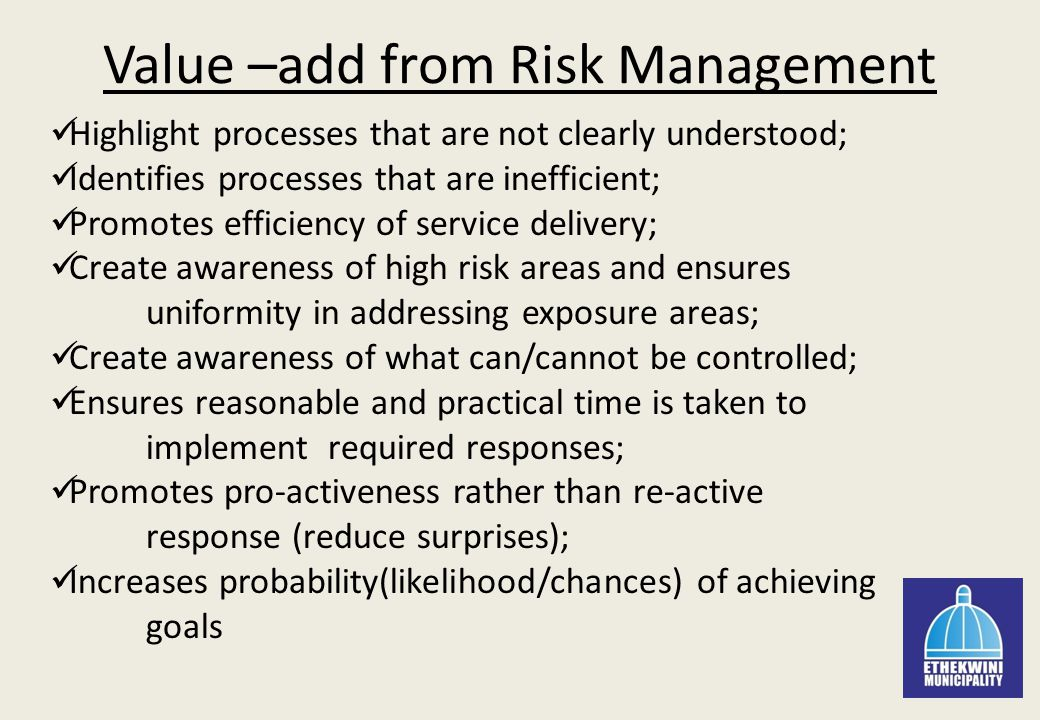Five areas of risk management
