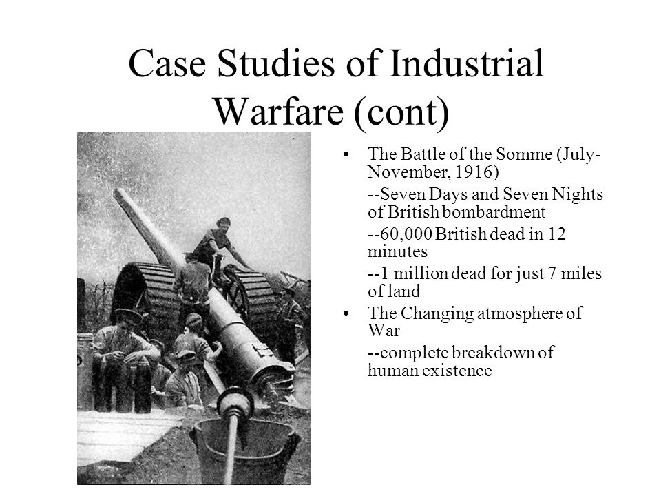 Case Studies of Industrial Warfare (cont)