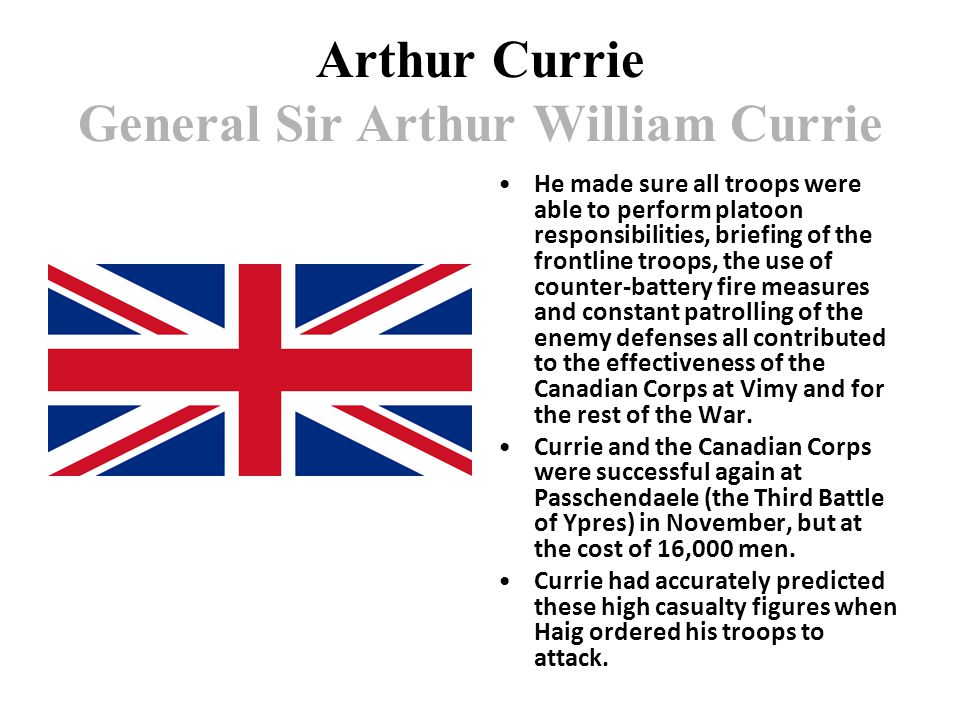 Arthur Currie General Sir Arthur William Currie