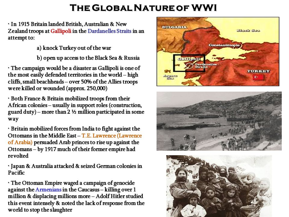 The Global Nature of WWI