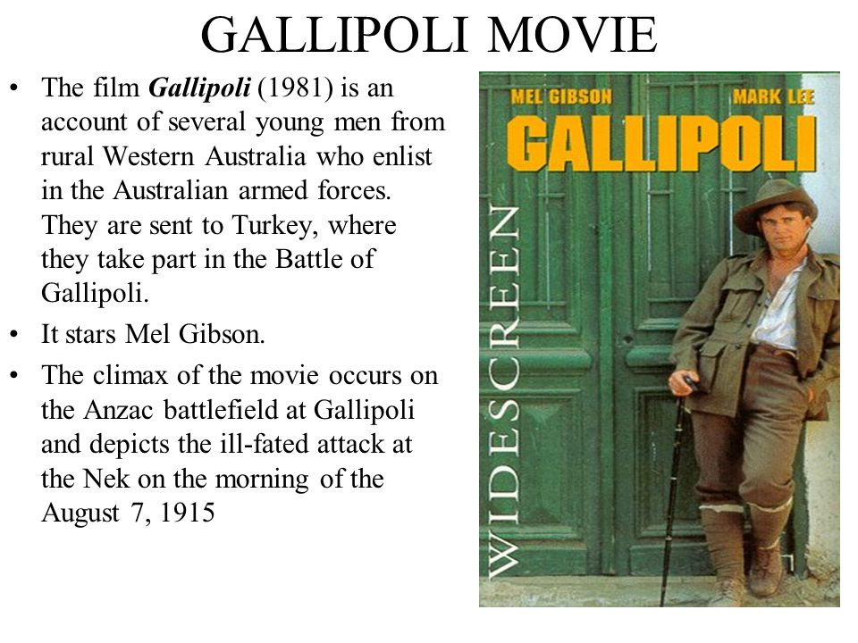 GALLIPOLI MOVIE