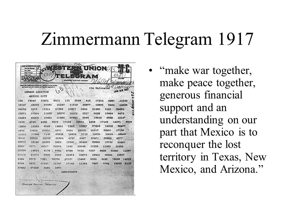 Zimmermann Telegram 1917