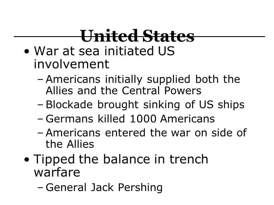 United States War at sea initiated US involvement