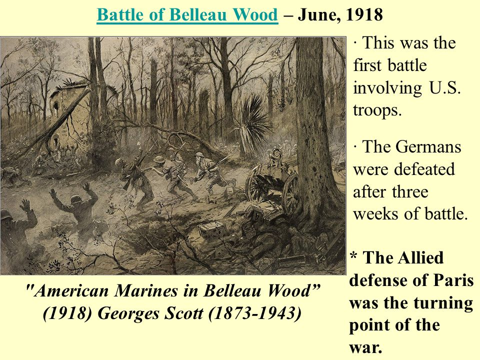 Battle of Belleau Wood – June, 1918