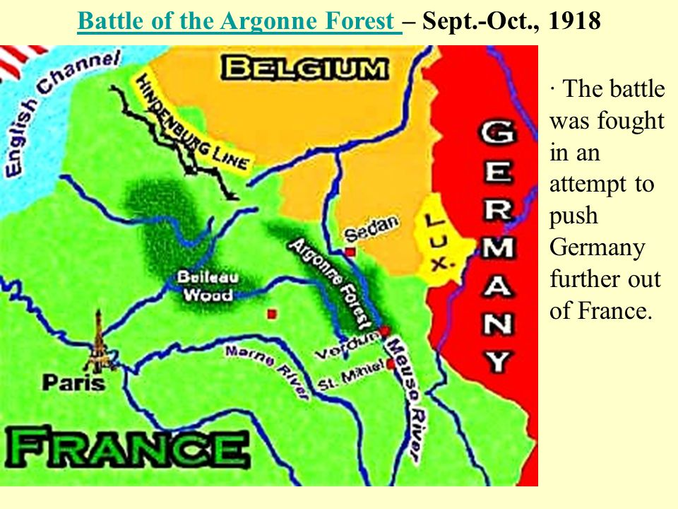 Battle of the Argonne Forest – Sept.-Oct., 1918