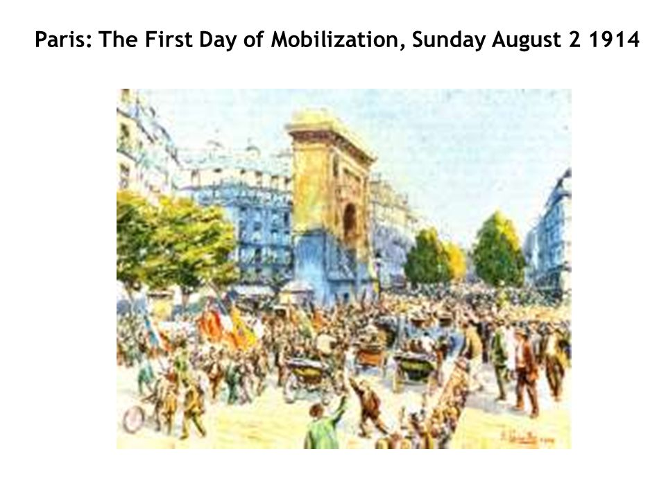 Paris: The First Day of Mobilization, Sunday August 2 1914