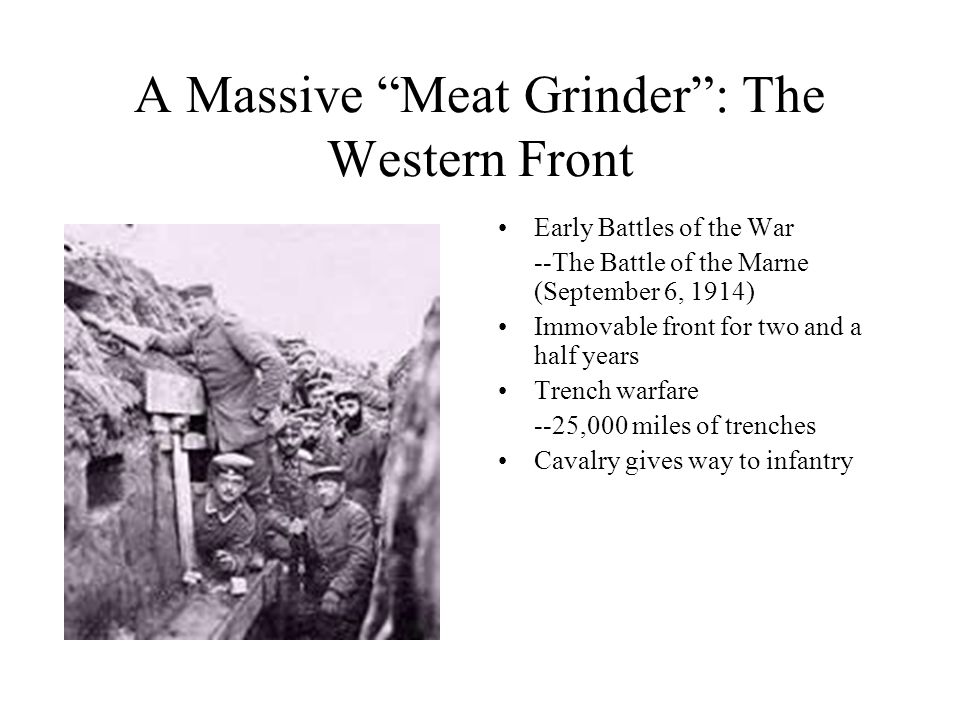A Massive Meat Grinder : The Western Front