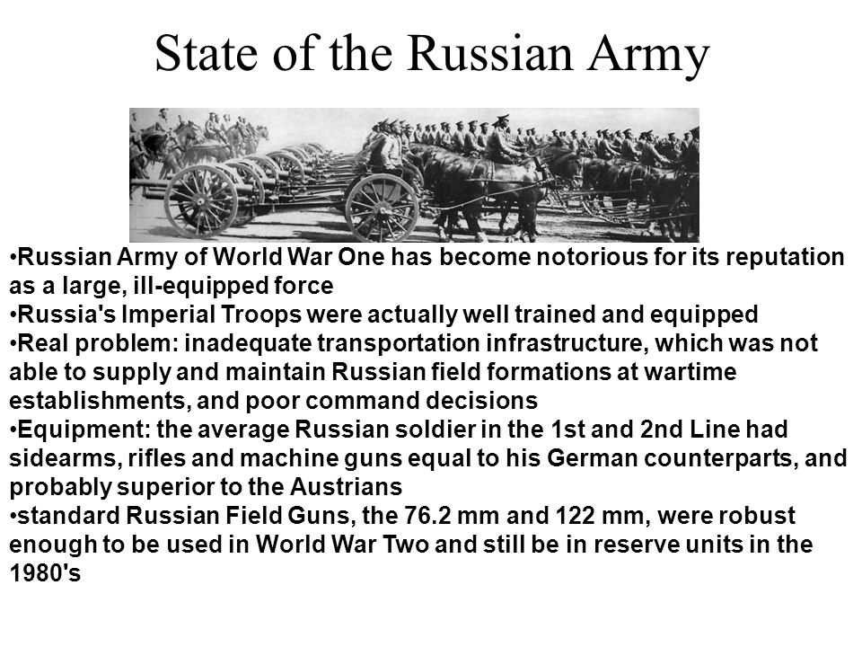 State of the Russian Army