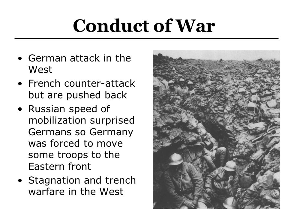Conduct of War German attack in the West