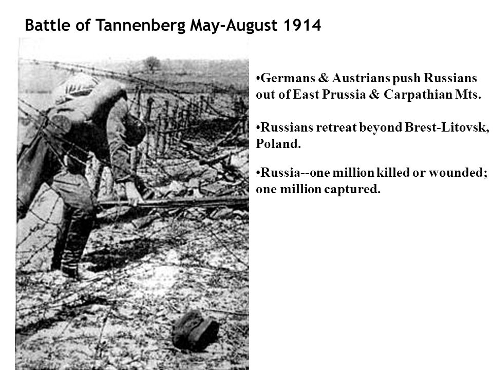 Battle of Tannenberg May-August 1914