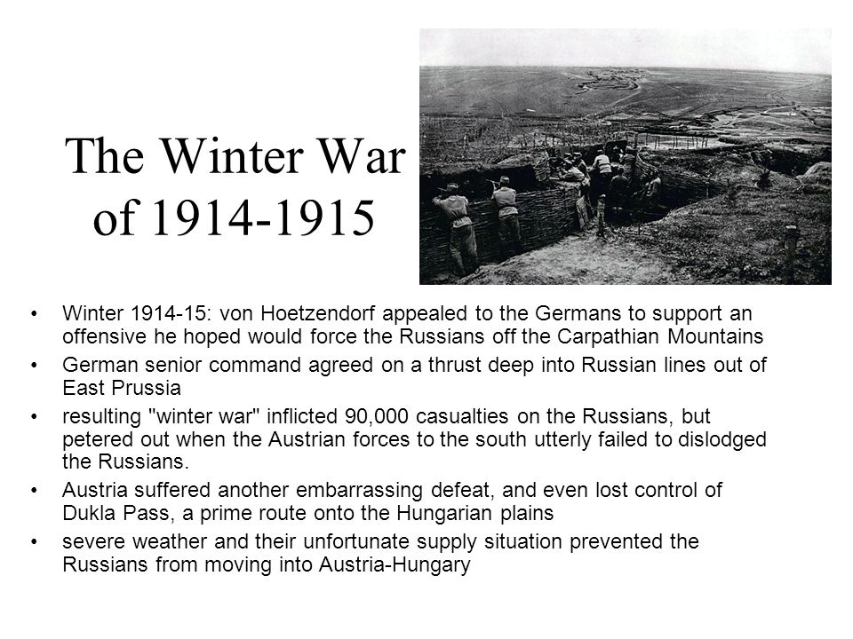 The Winter War of