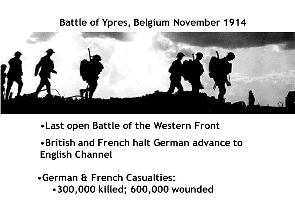 Battle of Ypres, Belgium November 1914
