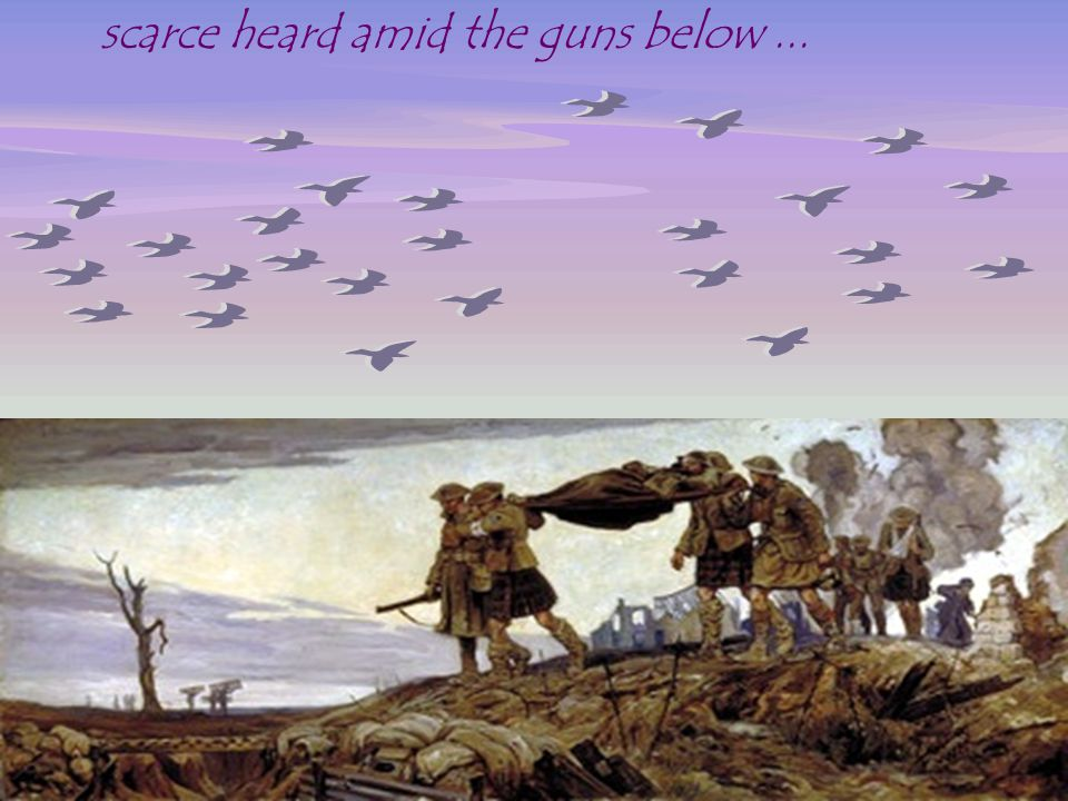 scarce heard amid the guns below ...