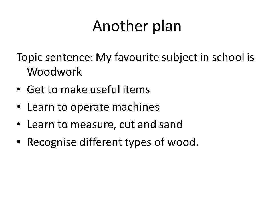 My favorite subject i school essay