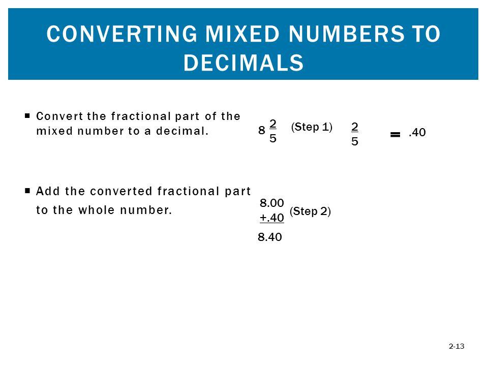 How To Change Mixed Numbers To Decimals - descargardropbox