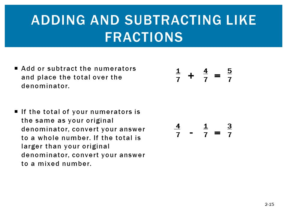 Fractions chapter two mcgraw hillirwin ppt video online download 15 adding ccuart Gallery