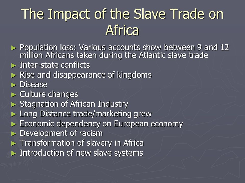 """economic impacts of slavery Slavery was the flywheel on which america's market revolution turned—not  to  calculate the amount due based on the negative impact of slavery  ago, """" formed the very basis of the economic life of new england: about it."""