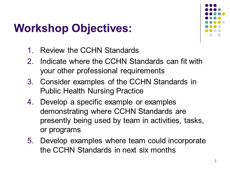 how to develop a standard of practice