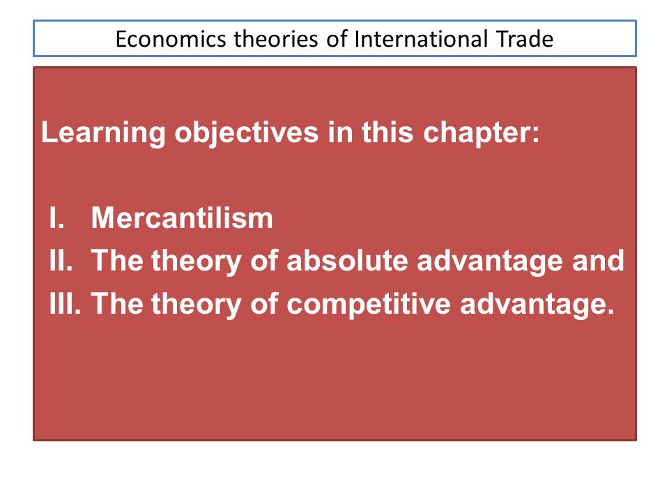 international trade pattern and competitive advantage Intra-industry trade: a heckscher-ohlin-ricardo approach  ists view the causes of international trade-the  intra-industry trade and comparative advantage.