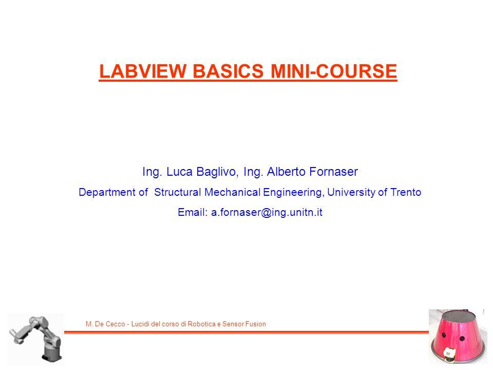 LABVIEW BASICS MINI-COURSE