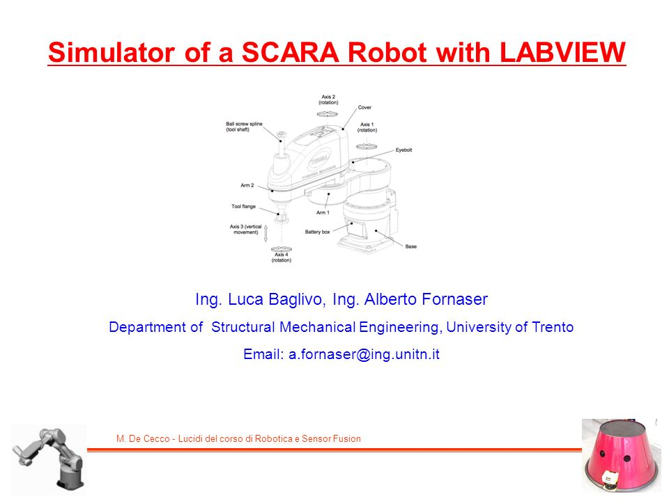 Simulator of a SCARA Robot with LABVIEW