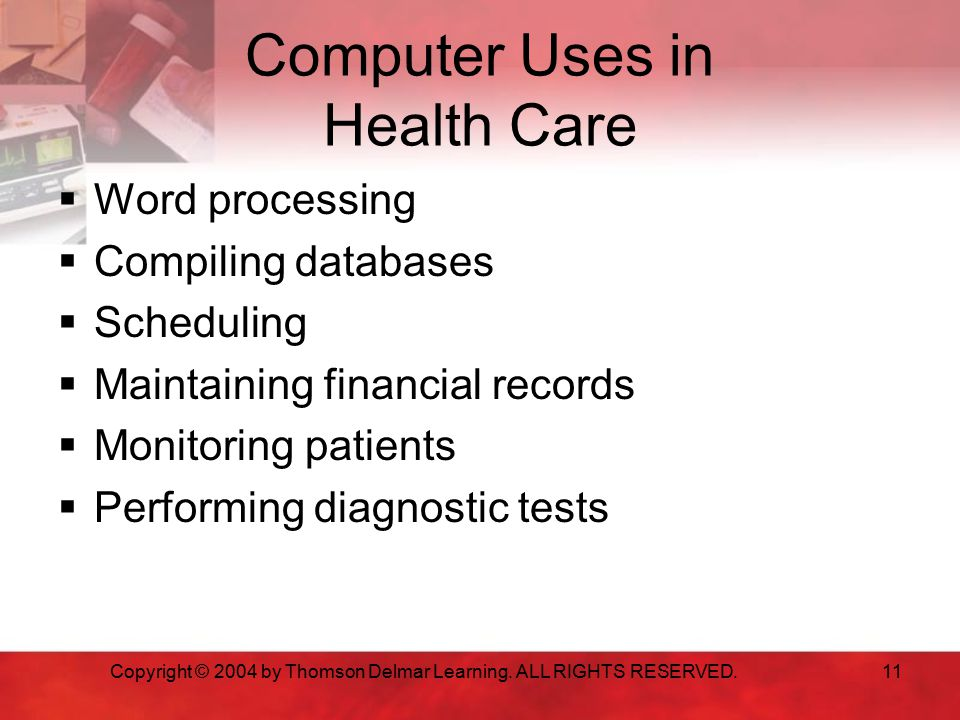 Computer Uses in Health Care