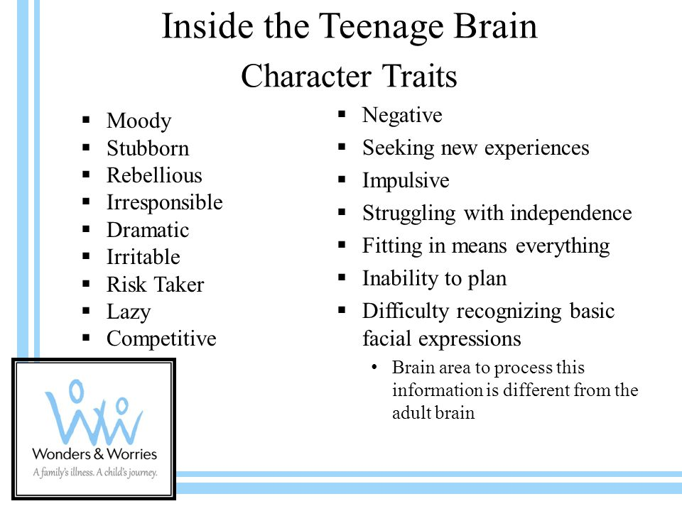 inside the teenage brain Certified parenting educator marty wolner  marty wolner is a certified parenting educator for the institute for professional and educational development, and new.