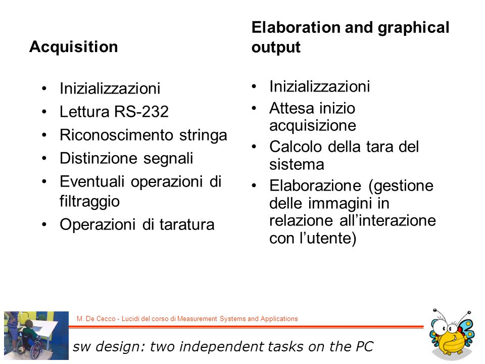 Elaboration and graphical output